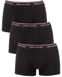 Tommy Hilfiger 3 Pack Premium Essentials Trunks - Black
