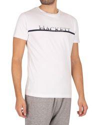 Hackett Chest Stripe T-shirt - White
