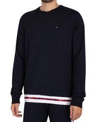Tommy Hilfiger Lounge Logo Sweatshirt - Blue