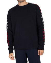 Tommy Hilfiger Logo Track Sweatshirt - Blue