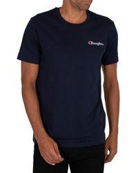 Champion Chest Logo T-shirt - Blue