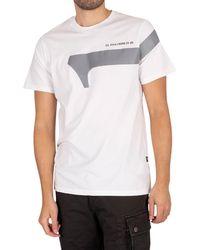 G-Star RAW Reflective Graphic T-shirt - White