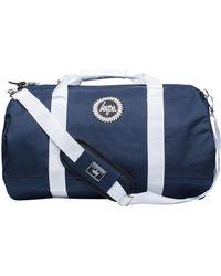 Hype - Navy/white Badge Logo Holdall Bag - Lyst