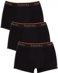 Superdry - Black Orange Label 3 Pack Trunks - Lyst