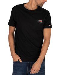 Tommy Hilfiger Chest Logo T-shirt - Black
