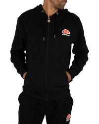 Ellesse Miletto Zip Logo Hoodie - Black