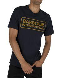 Barbour Essential Large Logo T-shirt - Blue