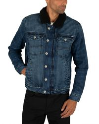 Superdry Hacienda Sherpa Denim Jacket - Blue