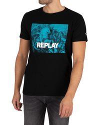 Replay Graphic T-shirt - Black