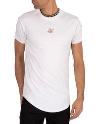 SIKSILK Tape Collar Gym T-shirt - White