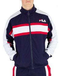 Fila Peacoat Carter Colour Block Track Jacket - Blue