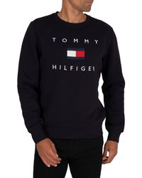 Tommy Hilfiger Flag Sweatshirt - Blue