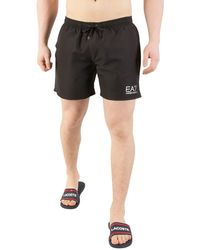 EA7 Sea World Swim Shorts - Black