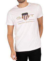 GANT Archive Shield T-shirt - White