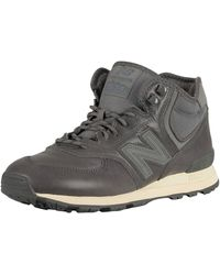 New Balance 574 Mid Leather Trainers - Gray