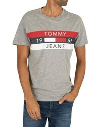 Tommy Hilfiger Essential Panel T-shirt - Gray