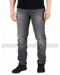 Jack & Jones Grey Denim Tim Slim Fit Indigo Knit Jeans - Gray
