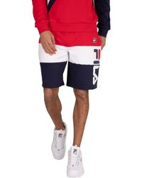 Fila Cut And Sew Placed Graphic Sweat Shorts - Red