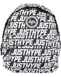 Hype - Backpack In Black With Text Print - Lyst