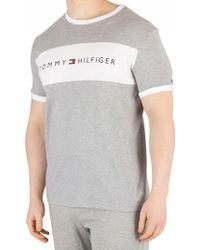 8f88d7ec Lyst - Tommy Hilfiger Large Logo T-shirt in Red for Men