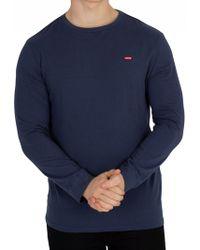Levi's - Navy Longsleeved Original T-shirt - Lyst