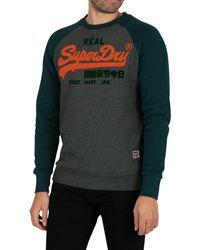 Superdry Vintage Logo Duo Raglan Sweatshirt - Green