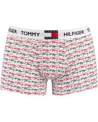 Tommy Hilfiger Organic Cotton Print Trunks - White