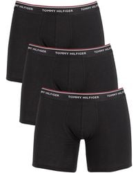 Tommy Hilfiger 3 Pack Premium Essentials Boxer Briefs - Black
