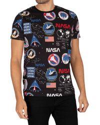 Alpha Industries Nasa Aop T-shirt - Black