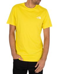 The North Face Simple Dome T-shirt - Yellow