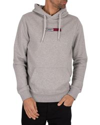 Tommy Hilfiger Embroidered Box Pullover Hoodie - Grey