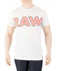 G-Star RAW - White Fama Regular T-shirt - Lyst