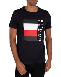 Tommy Hilfiger Corp Stripe Box T-shirt - Black