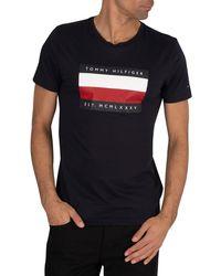 Tommy Hilfiger Corp Stripe Box T-shirt - Black