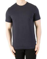 Aquascutum - Navy Southport Shoulder T-shirt - Lyst