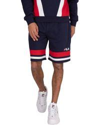Fila Leo Lay On Stripe Sweat Shorts - Blue