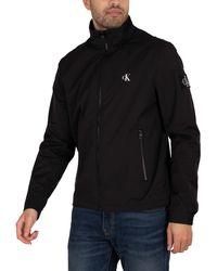 Calvin Klein Nylon Harrington Jacket - Black