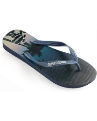 4bdf58cad621 Havaianas Beach Print Flip Flops in Black for Men - Lyst