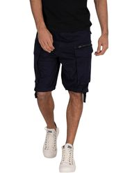 G-Star RAW Rovic Zip Relaxed Cargo Shorts - Blue
