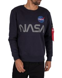 Alpha Industries Nasa Reflective Sweatshirt - Blue