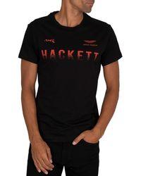 Hackett Amr Graphic T-shirt - Black