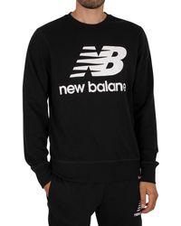 New Balance Essentials Stacked Logo Sweatshirt - Black