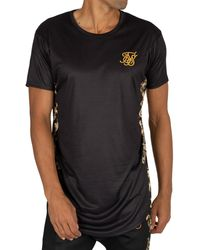 SIKSILK Curved Hem T-shirt - Black