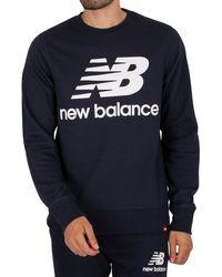 New Balance Essentials Stacked Logo Sweatshirt - Blue