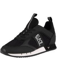 EA7 Woven Sneakers - Black