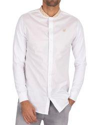SIKSILK Chain Tape Collar Shirt - White