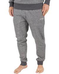 Emporio Armani - Grey Marled Loungewear Bottoms - Lyst