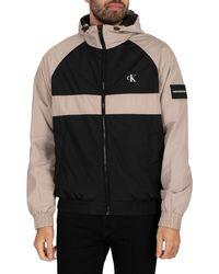 Calvin Klein Blocked Zip Through Jacket - Black