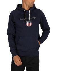 GANT Shield Hoodie - Blue