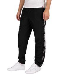 Lacoste Sport Lettered Bands Lightweight Sweatpants - Black